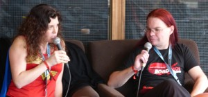 Interviewing the author Bryony Pearce at the Sci-Fi Weekender